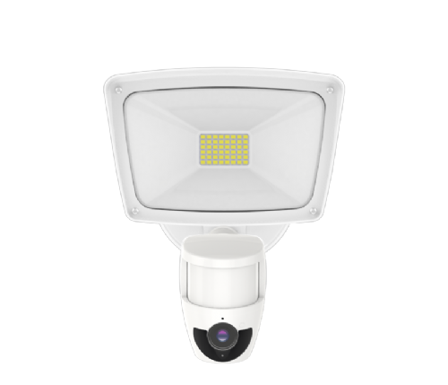 28w LED Security Floodlight with PIR, Built In Security Camera and Loudspeaker
